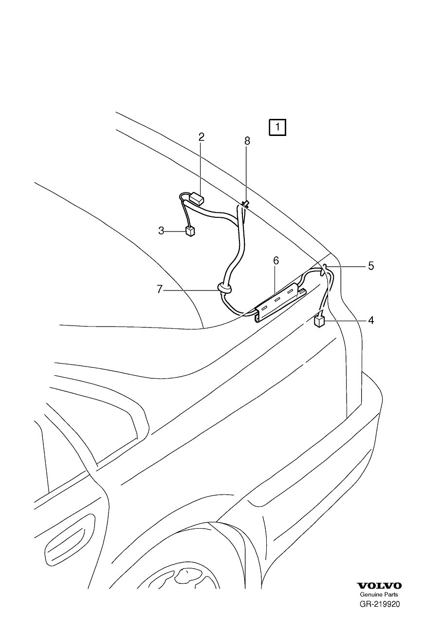 volvo s60 trunk wiring harness peugeot 508 trunk wiring