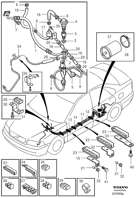 service manual  how to unblock fuel line inside 1997 volvo