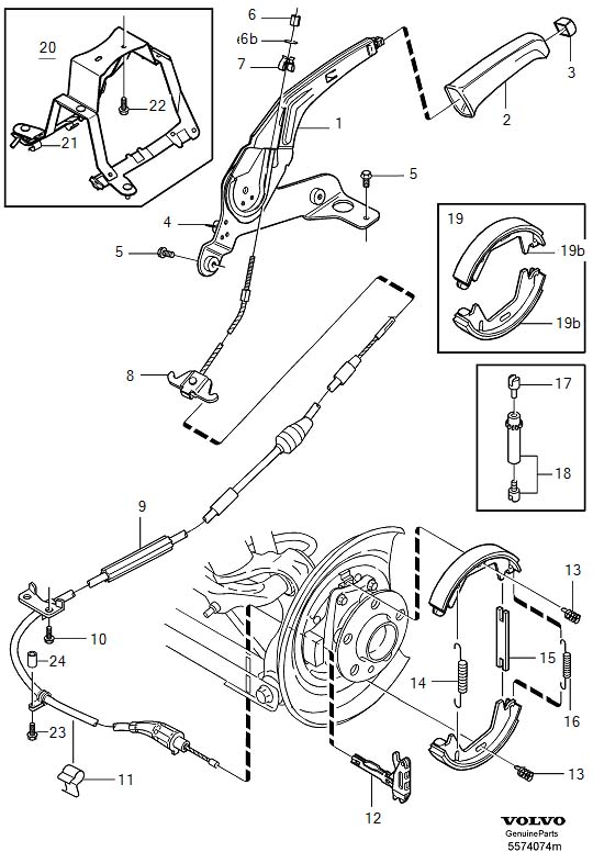 service manual  2001 volvo s60 how to adjust parking brake